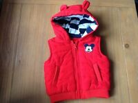Red Mickey Mouse Bodywarmer