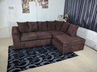 EXCLISIVE SALE ON-- FACTORY PACKED DYLAN JUMBOCORD CORNER SOFA AVAILABLE IN 3+2 SOFA SETS