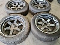 "16"" ROTA GRID ALLOY WHEELS / TYRES - 4 X 114.3 FITMENT"
