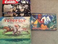 Classic board games inc Colditz , Totopoly and Exploration