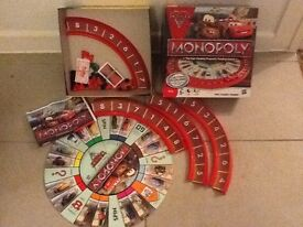 Disney Cars Monopoly game. Good condition