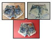 Acid Wash Levi Shorts