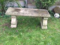 Ornamental garden bench