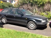 1995 AUDI 80 estate Black owned since 1997 new tyres & battery Running very well No problems