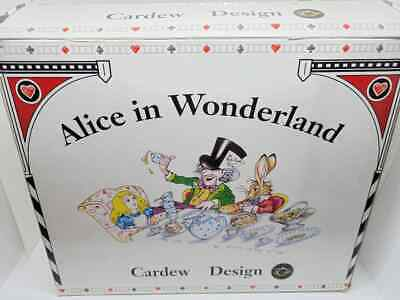Madhatter's Teaparty Porcelain Teaset Cardew NIB Alice in Wonderland 12 pc.
