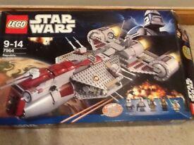 Star Wars - Lego Republic Frigate, clone turbo tank , X-wing job lot!!!!
