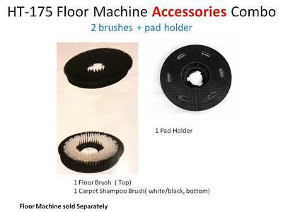 2 Brushes 15 1 Pad Holder 16 Carpet Clean Floor Buffer Ht175 Accessories