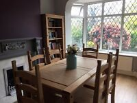 Dining Table and 6 chairs, sideboard, bookcase all matching ***BARGAIN***