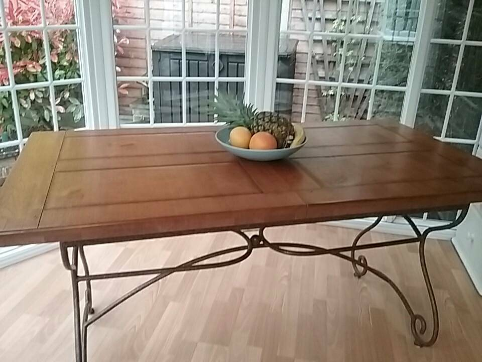 solid oak extending dining room table from multi york excellent