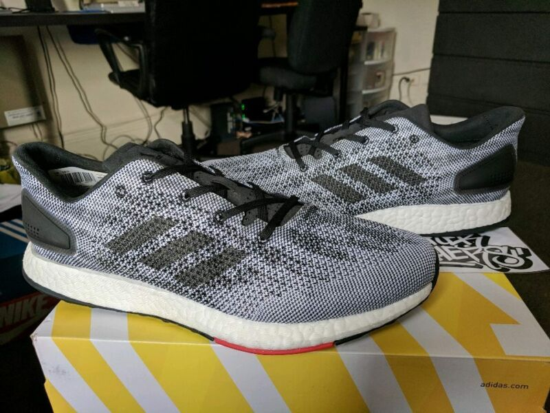 cccc839465712 Adidas PureBoost Pure Boost DPR Core Black White Grey Red Running Trainer  S80993