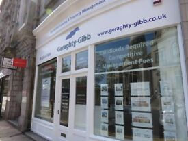 Office/Shop for lease on Union Terrace, Aberdeen. Zero Business Rates.