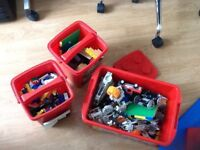 Mixed boxes of Lego