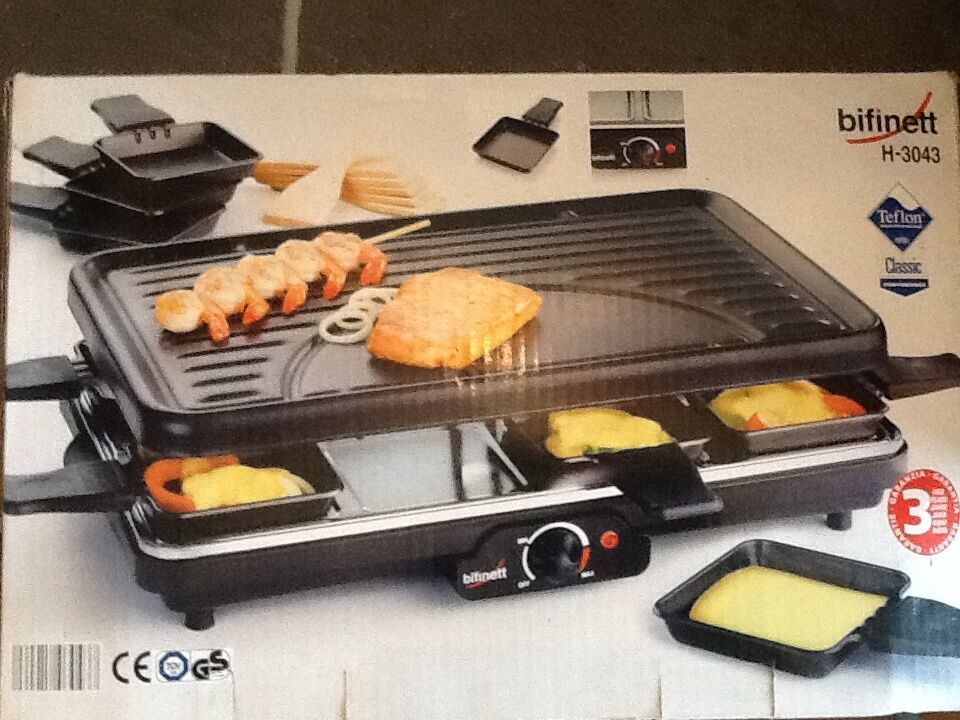 bifinett swiss raclette grill in cowbridge vale of glamorgan gumtree. Black Bedroom Furniture Sets. Home Design Ideas