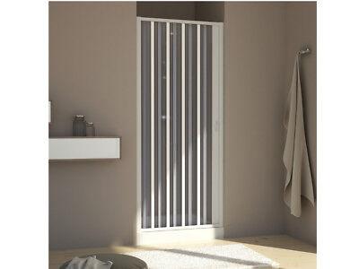 Duschtür; Nischentür; Nische; Nischendusche im Falttürsystem PVC Dusche ()