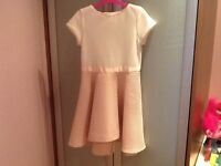 Gorgeous Ted Baker dress, cream/pink, age 9, New With Tags