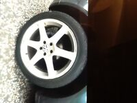 Set of four 17 inch alloys 5 stud. Fit mark four golf or most audis