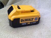 Dewalt 18v 4.0ah battery,,brand new