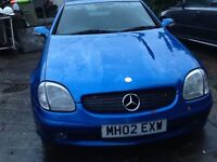 2002 Blue Mercedes SLK Convertible