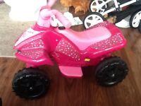 Girls Electric Quad Bike 6v