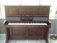 Dark wood piano