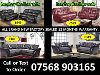 SOFA HOT OFFER BRAND NEW LEATHER RECLINER FAST DELIVERY 56
