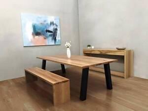 """Reclaimed Blackbutt Dining Table - """"Montana"""" Cheltenham Kingston Area Preview"""