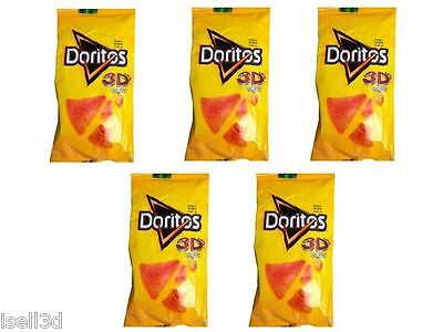 FRESH Doritos 3D queso Mexican chips Mexico Sabritas 5 Pack Exp. MAY 13 2018