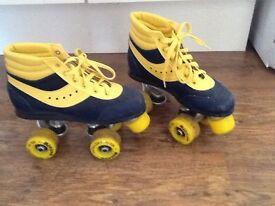 Old school kids rollerskates