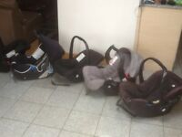 Any first size baby car seat with carry handle £15 each-for newborn upto 13kg weight(9mths)-washed