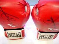 Anthony Joshua worn and hand Signed Everlast Gloves