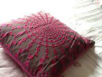 Large pretty patterned cushion John Lewis needs uplifted