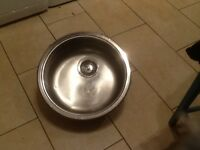 Sink round stainless steel