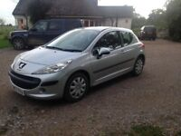 Silver 3 door 1.4 Peugeot 207. Lady owner, well looked after, MOT until October 2018