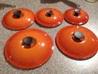 Le Creuset Set of 5 Saucepans - Volcanic