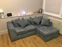 SALE OFFER ON BRAND NEW DYLAN JUMBO CORD CORNER SOFA SET IS AVAILABLE IN STOCK