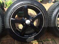 DEZENT 5 spoke alloys VW Vauxhall 4 stud fitment