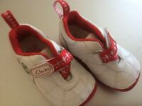 Clarks Baby First football Shoes.