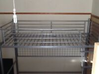 Silver Bed Frame, Single 3ft Size, Super Condition Throughout, Possible Delivery