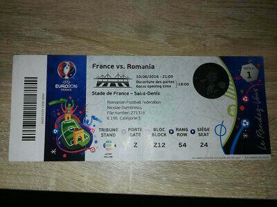 Ticket Euro 2016 : France - Romania MATCH 01