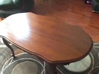 Large oval mahogany coffee table