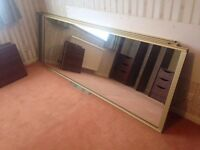 Mirrored doors x4, 860mm x 2290mm each, excellent condition
