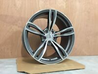 19″ Staggered M5 F10 Style Wheels – Gun Metal / Machined Face BMW 5X120