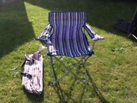 Camping picnic fold up chair - adult size