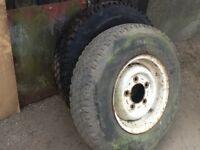 5 X Landrover Wheels with 7.50R16 Tyres