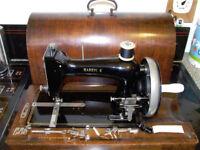 Vintage Harris K Sewing Machine & Accessories - a very rare sewing machine