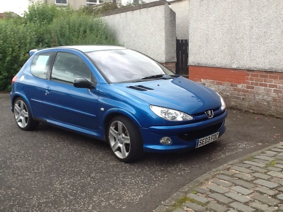 peugeot 206 gti 180 3 door hatchback blue petrol mot feb 2017 in st andrews fife gumtree. Black Bedroom Furniture Sets. Home Design Ideas