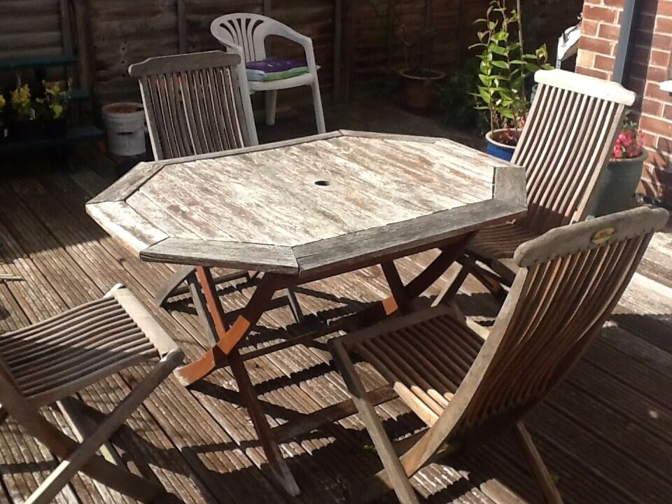 Garden Furniture Nottingham kent collection garden table and 4 chairs in wood and separate