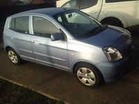 06 reg Picanto 12mnths MOT comes with parts to repair it.