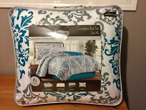 6 Piece Twin XL Bedding Set BRAND NEW
