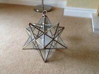 Star shaped hanging light